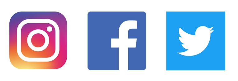 インスタ・フェイスブック・ツイッターロゴ